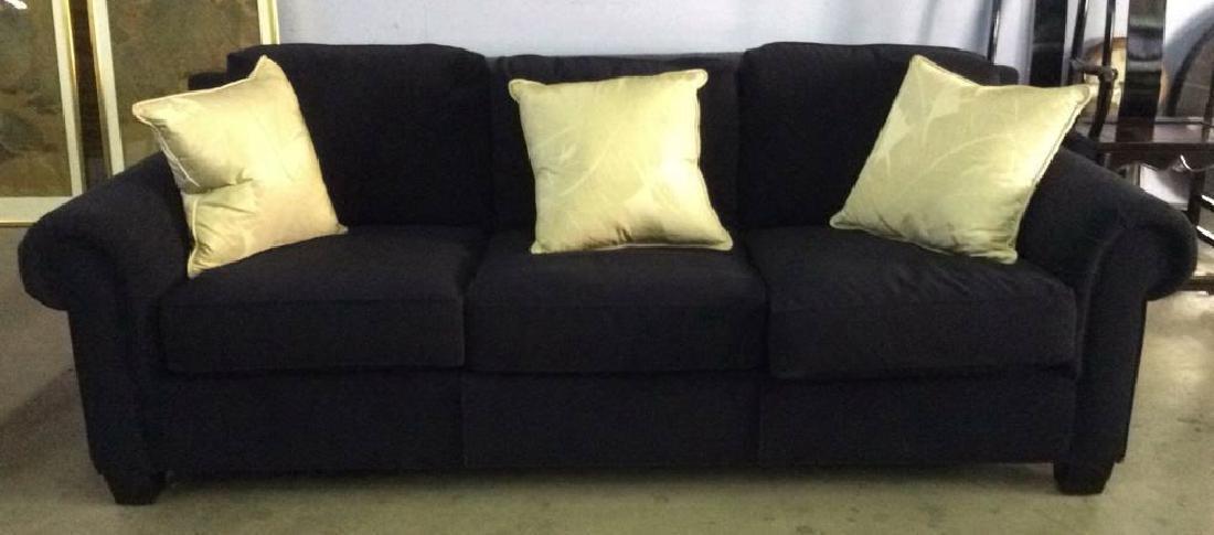 Lot 4 ARTISTIC FRAME Wool Sofa & Pillows