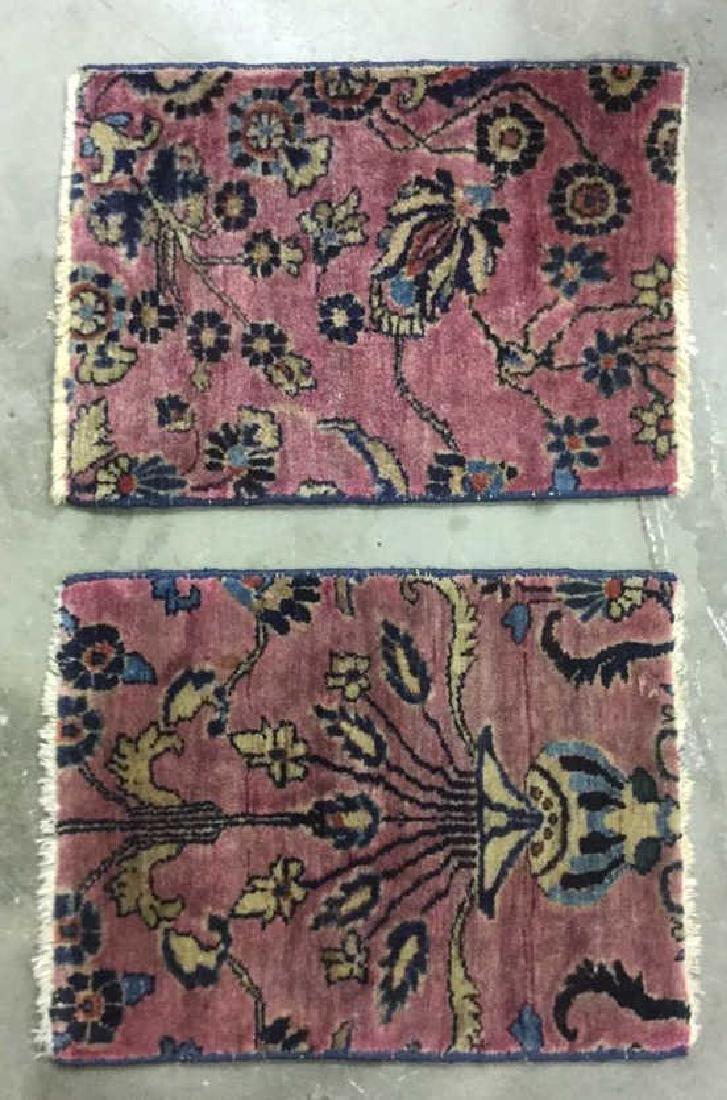 Lot 2 Vintage Persian Small Carpets C 1920's
