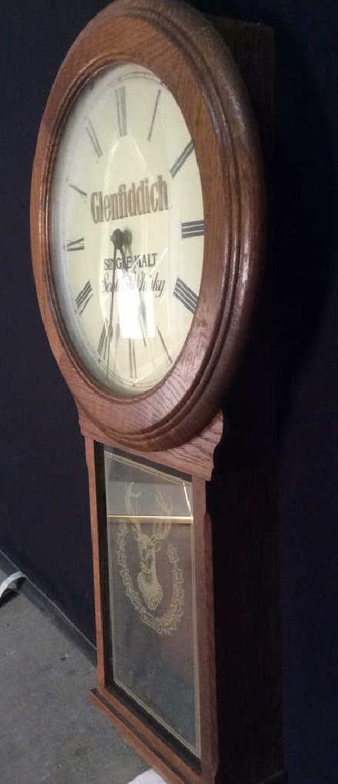 GLENFIDDICH Roman Numeral Wooden Clock - 5