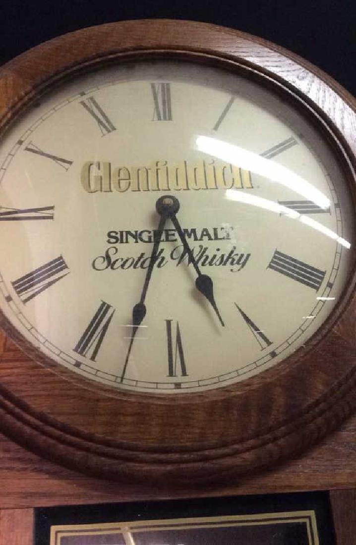 GLENFIDDICH Roman Numeral Wooden Clock - 9