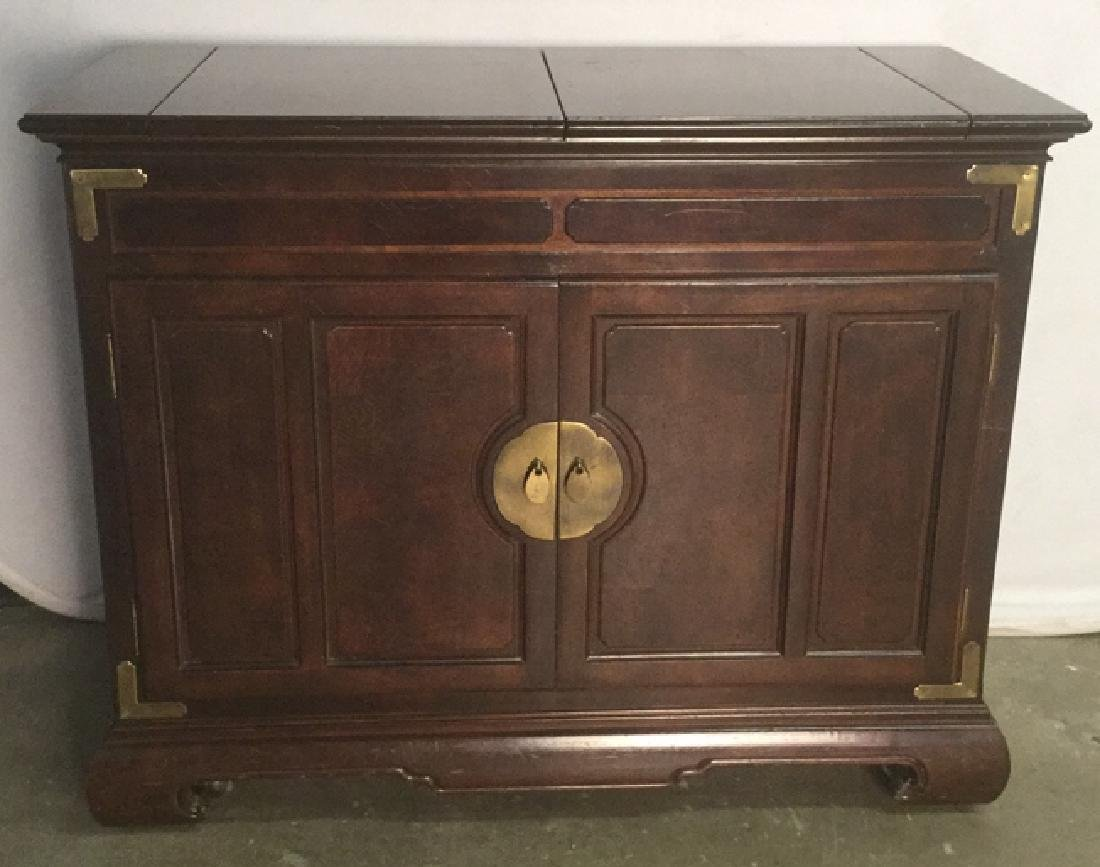Chinese Oriental Style Fold Out Bar Chest