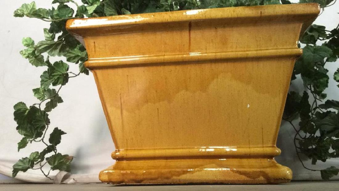 Yellow Gold Toned Pottery Planter - 6