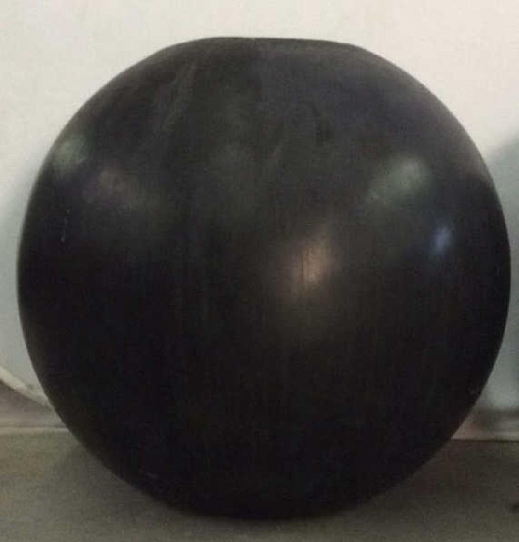 DESIGN WITHIN REACH Black Toned Orb Planters - 5