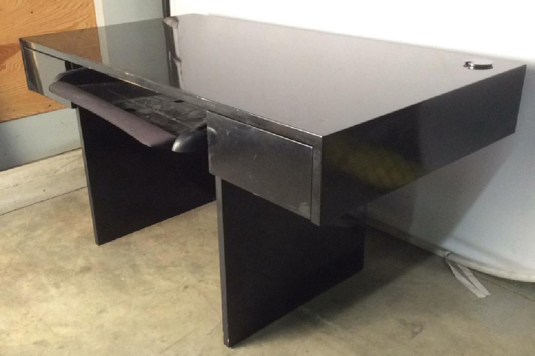 Black Lacquer Contemporary Style  Desk