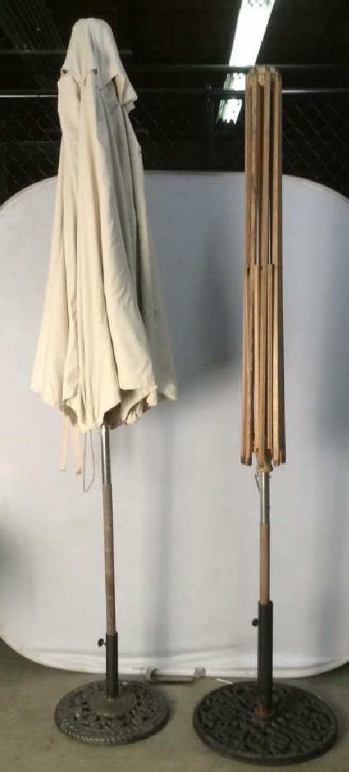 Lot 2 Outdoor Umbrellas W Stands