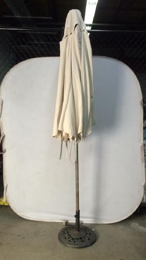 Lot 2 Outdoor Umbrellas W Stands - 7