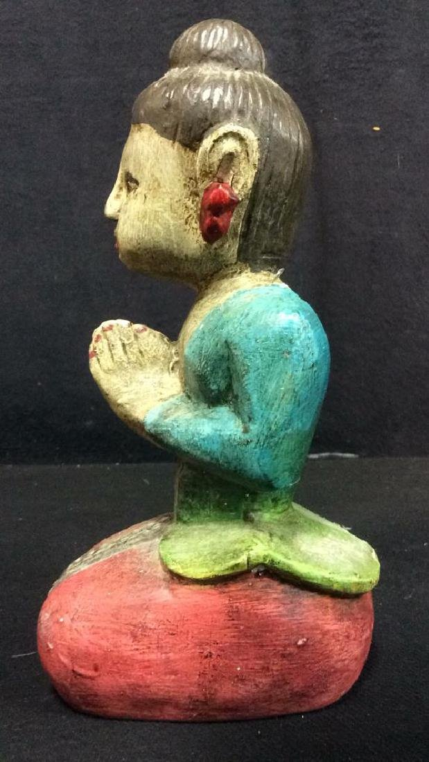 Asian Style Carved Wooden Female Figure - 8