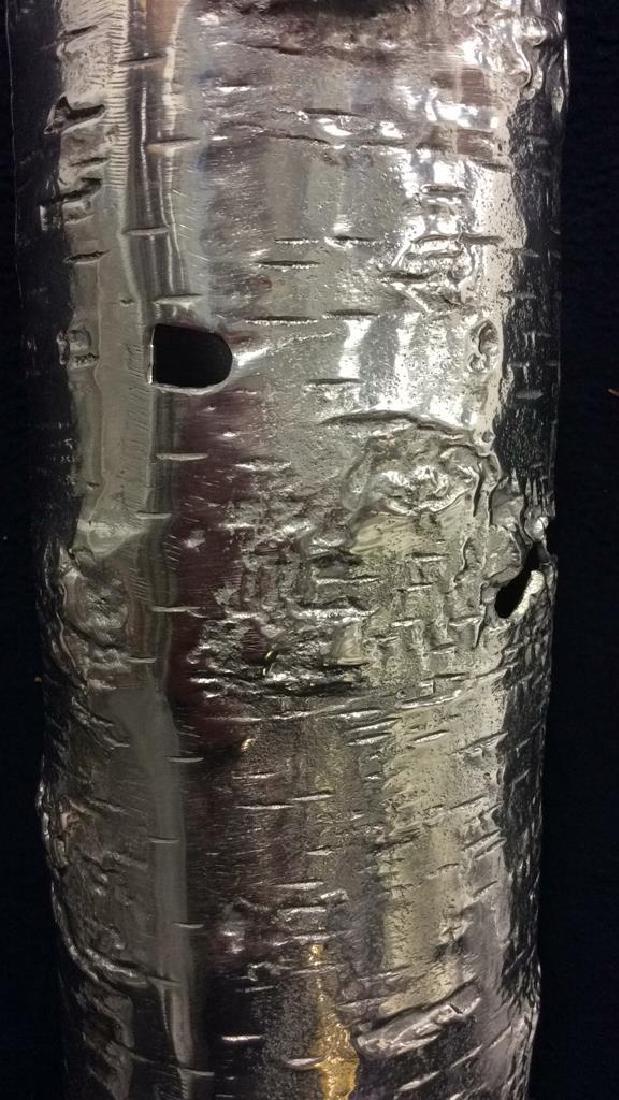Signed Michael Aram Birch Style Metal Vase w Box - 4