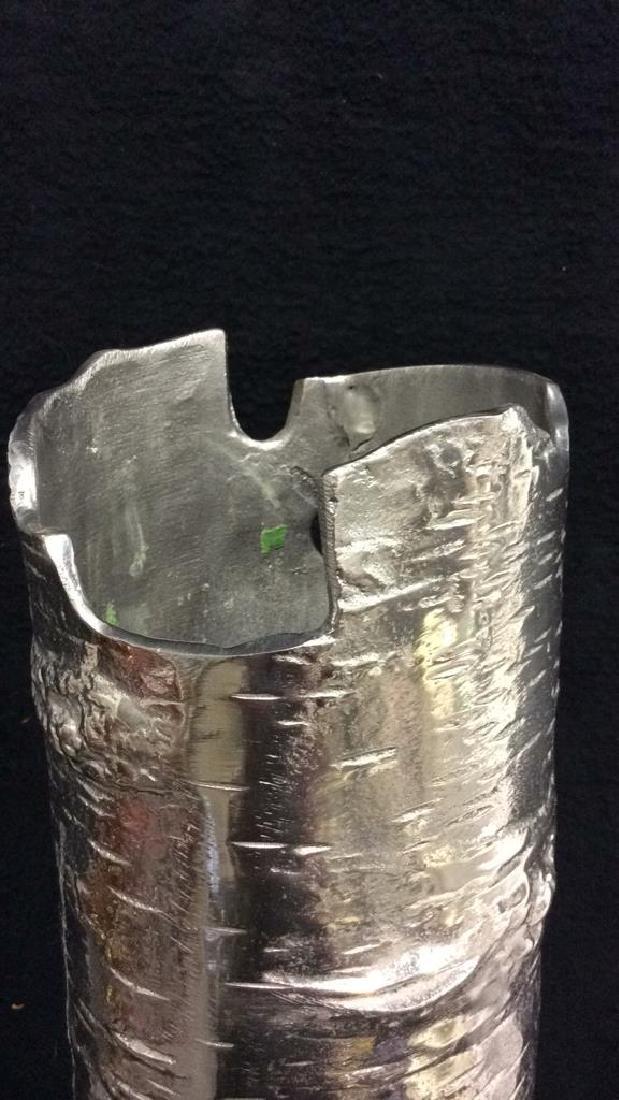Signed Michael Aram Birch Style Metal Vase w Box - 6