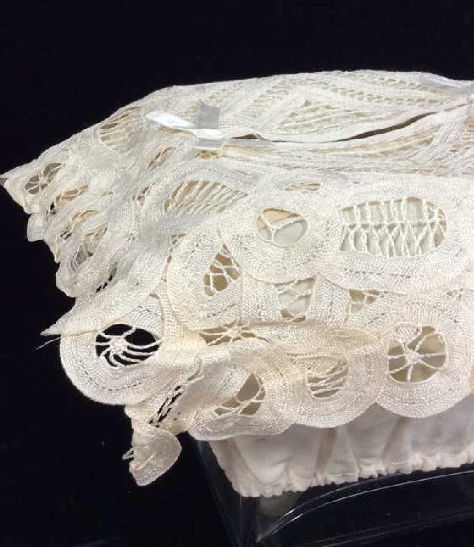 Vintage Hand Made Lace Box Covering