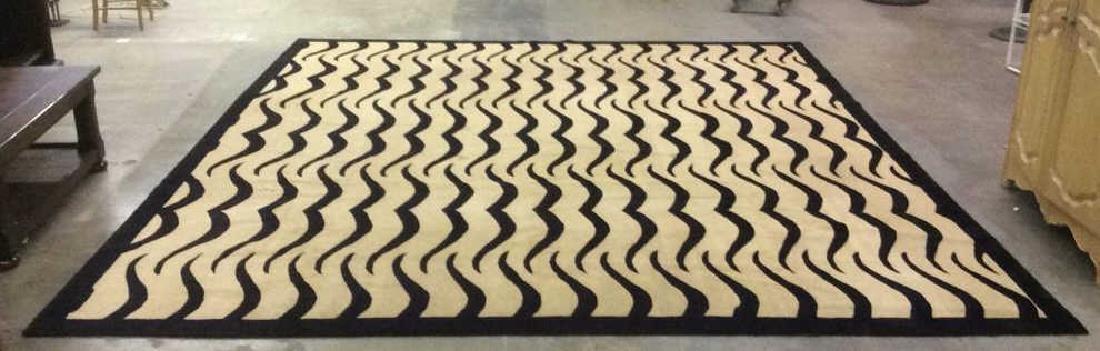 Handmade BUSY TIGER Living Room Wool Rug - 2