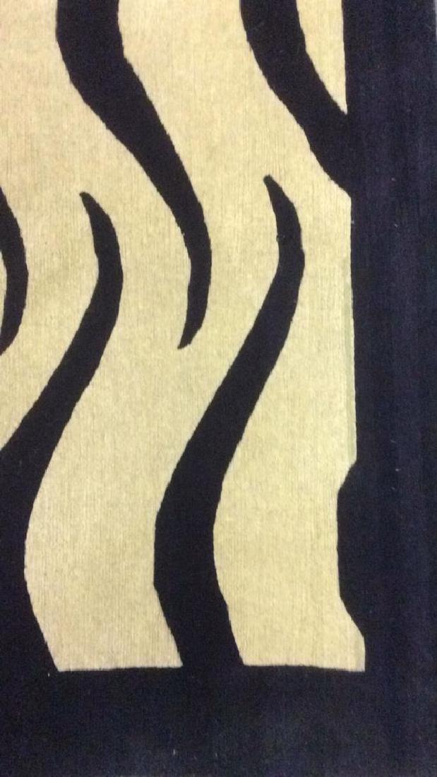Handmade BUSY TIGER Living Room Wool Rug - 7