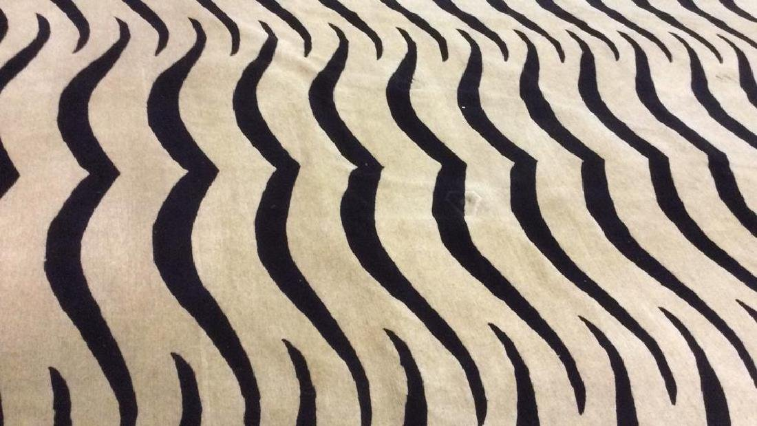 Handmade BUSY TIGER Living Room Wool Rug - 9
