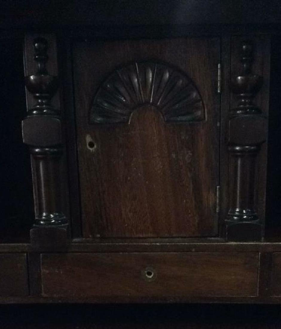 Vintage Claw Footed Drop Front Secretary Desk - 10