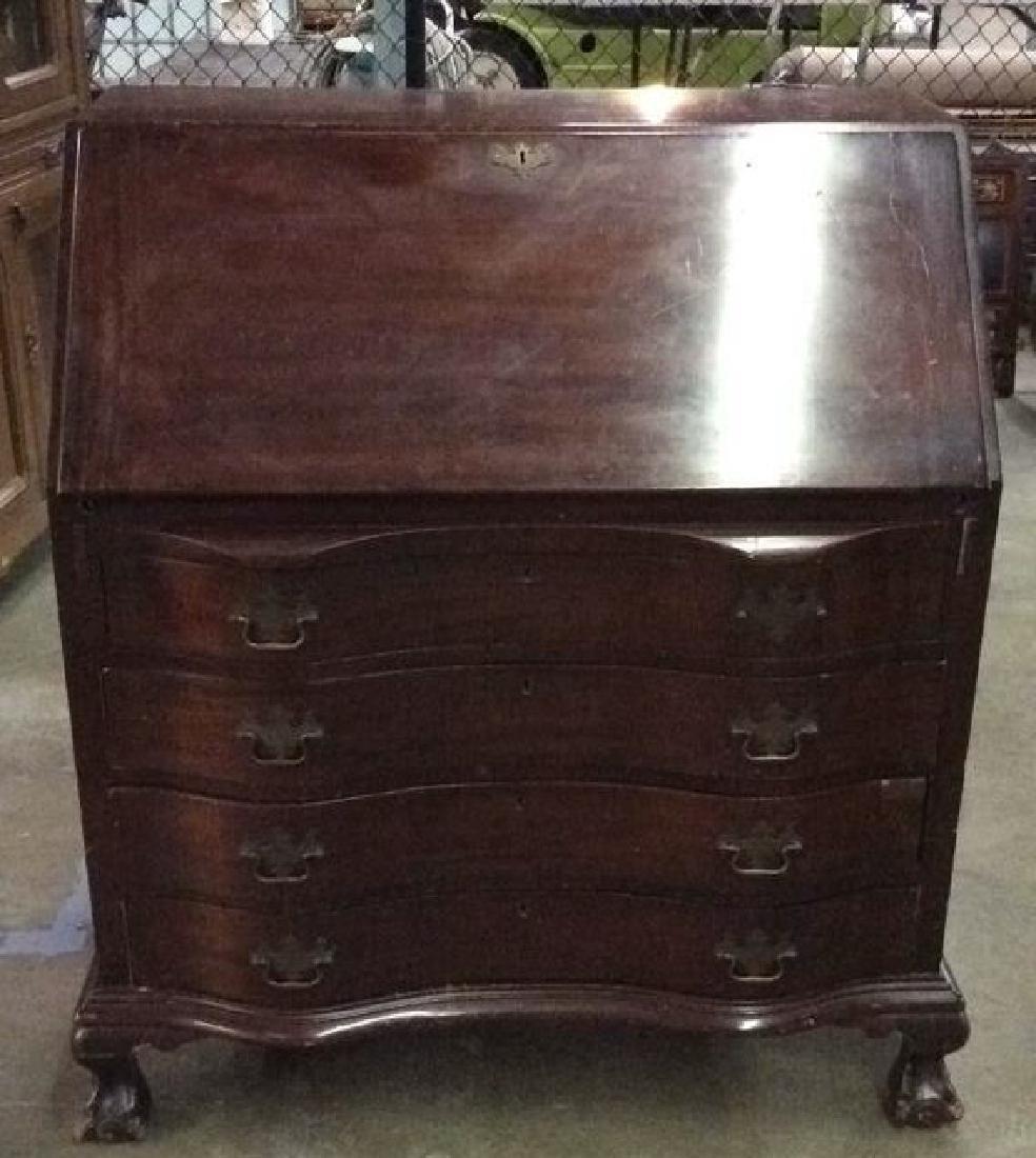Vintage Claw Footed Drop Front Secretary Desk