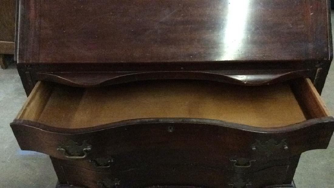 Vintage Claw Footed Drop Front Secretary Desk - 8