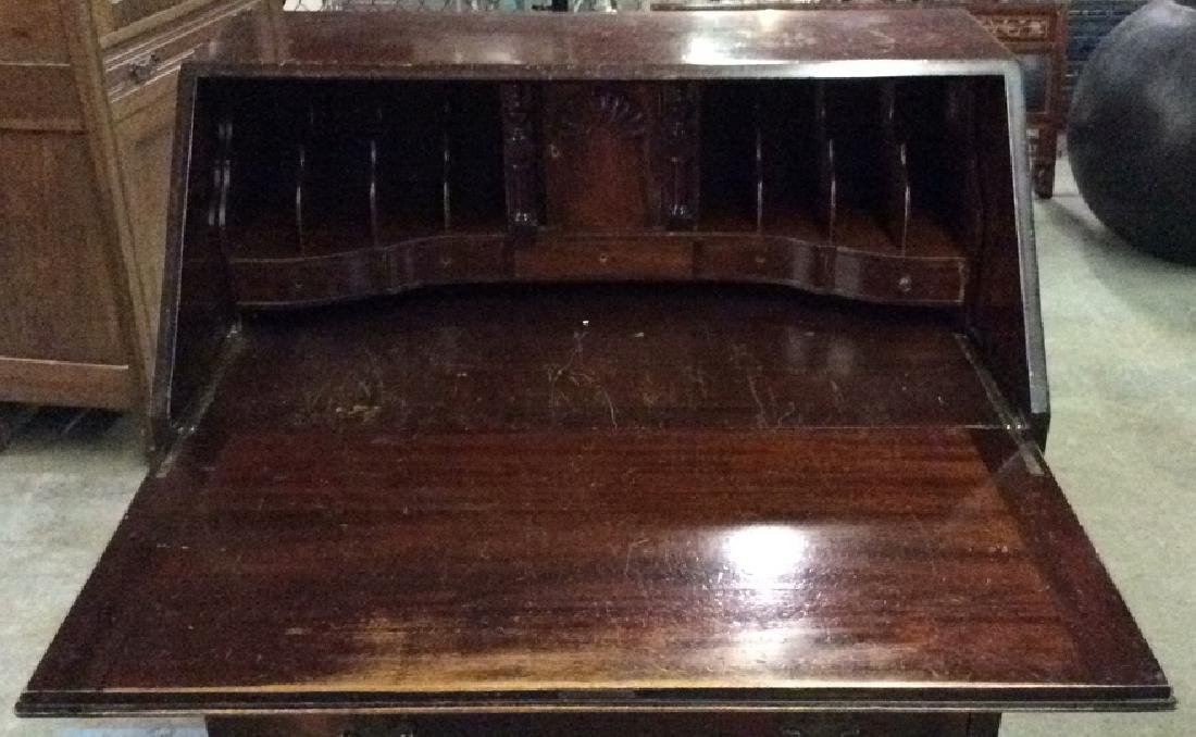 Vintage Claw Footed Drop Front Secretary Desk - 9