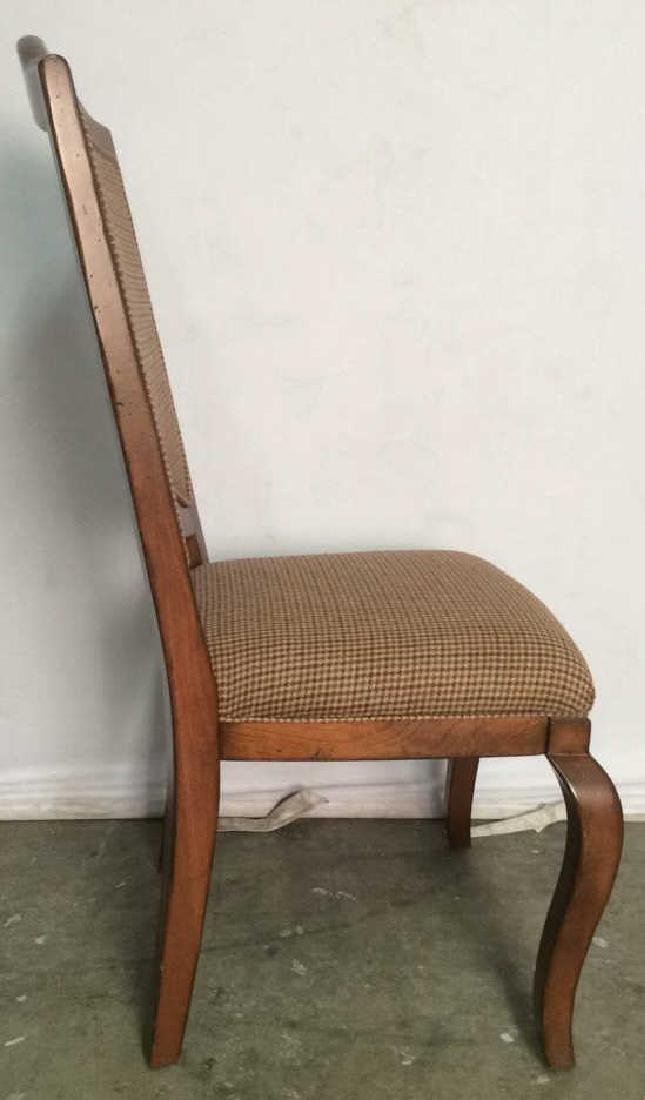 Set 6 Country Willow Walnut Frame Side Chairs - 10