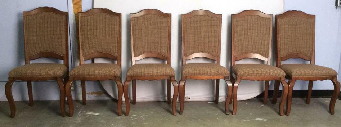 Set 6 Country Willow Walnut Frame Side Chairs