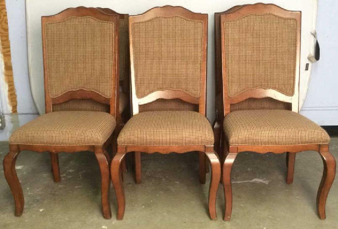 Set 6 Country Willow Walnut Frame Side Chairs - 2