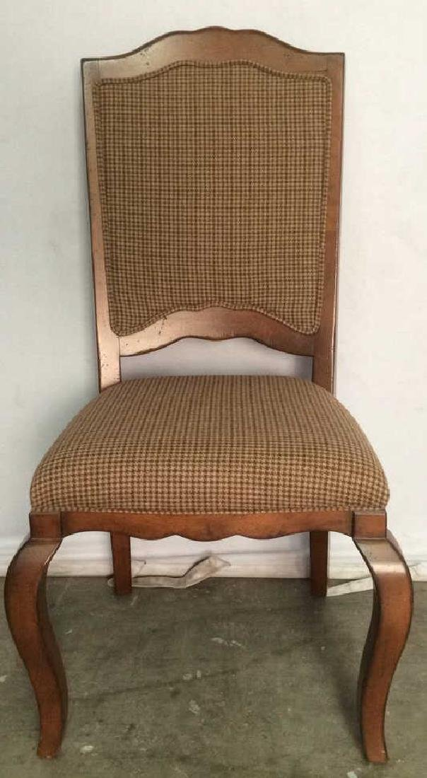 Set 6 Country Willow Walnut Frame Side Chairs - 3