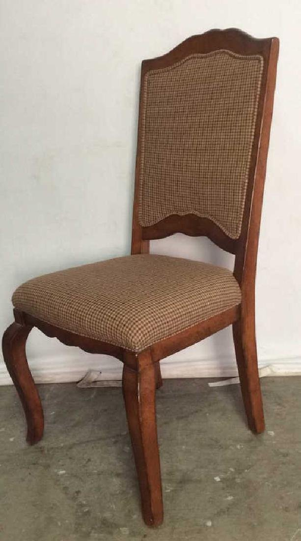 Set 6 Country Willow Walnut Frame Side Chairs - 5