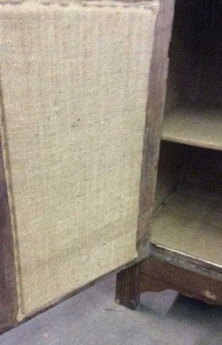 Glass Paned Wood Display Cabinet W Shelves Drawers - 7