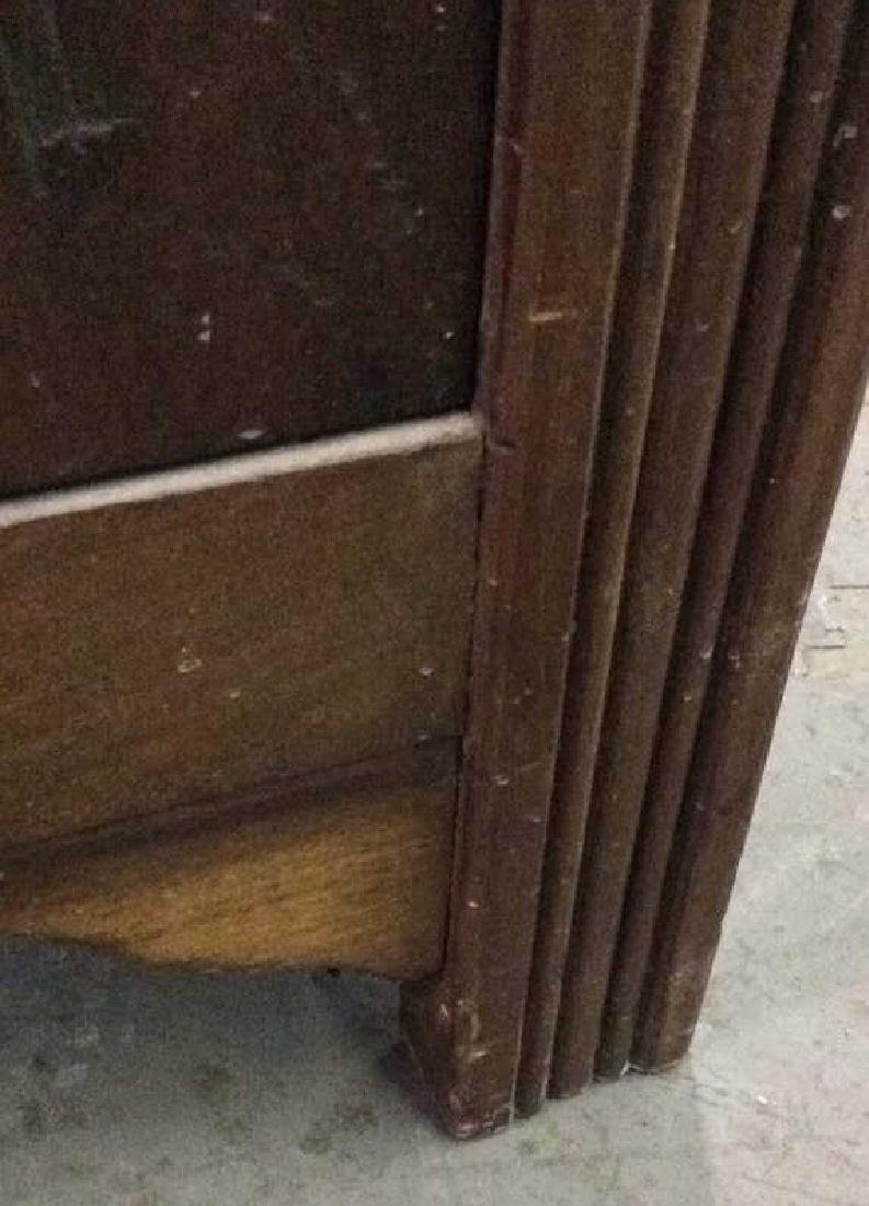 Glass Paned Wood Display Cabinet W Shelves Drawers - 9