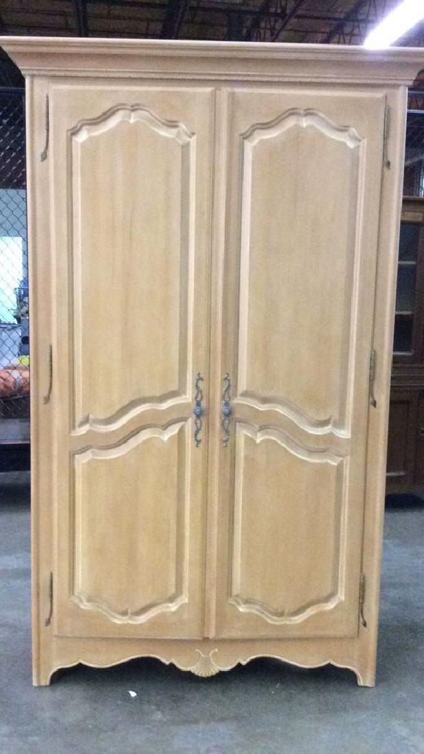 ETHAN ALLEN Light toned Wooden Armoire
