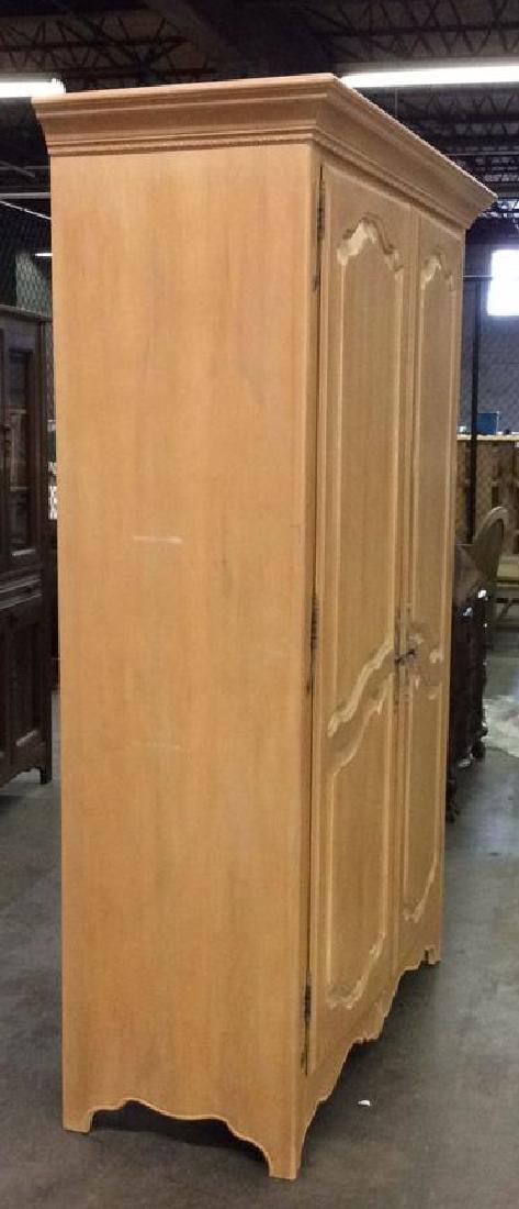 ETHAN ALLEN Light toned Wooden Armoire - 3