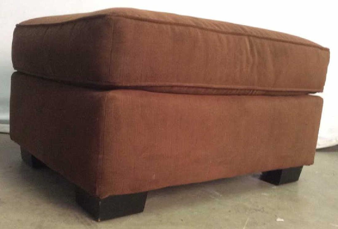 Chocolate Toned Fabric Upholstered Ottoman