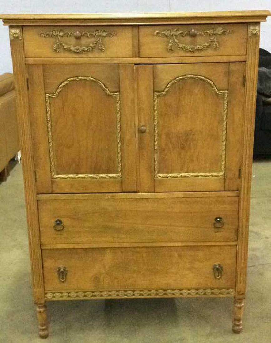 Vintage Carved Gilded Wooden Dresser