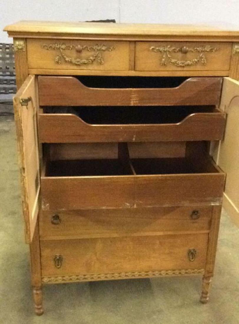 Vintage Carved Gilded Wooden Dresser - 6