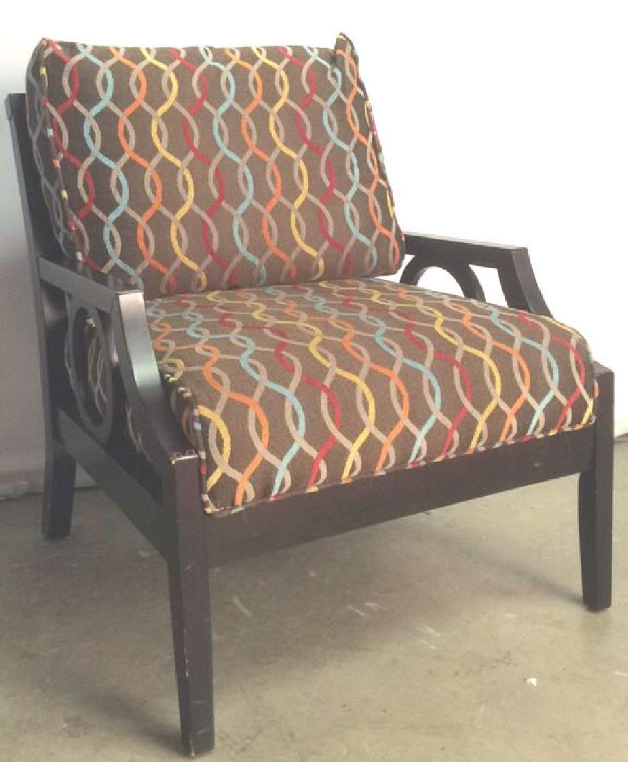 Cushioned Wooden Lounge Chair - 2