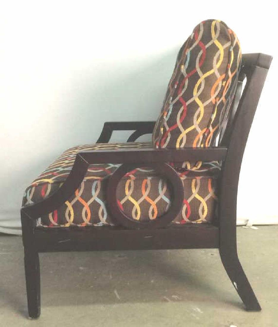 Cushioned Wooden Lounge Chair - 5