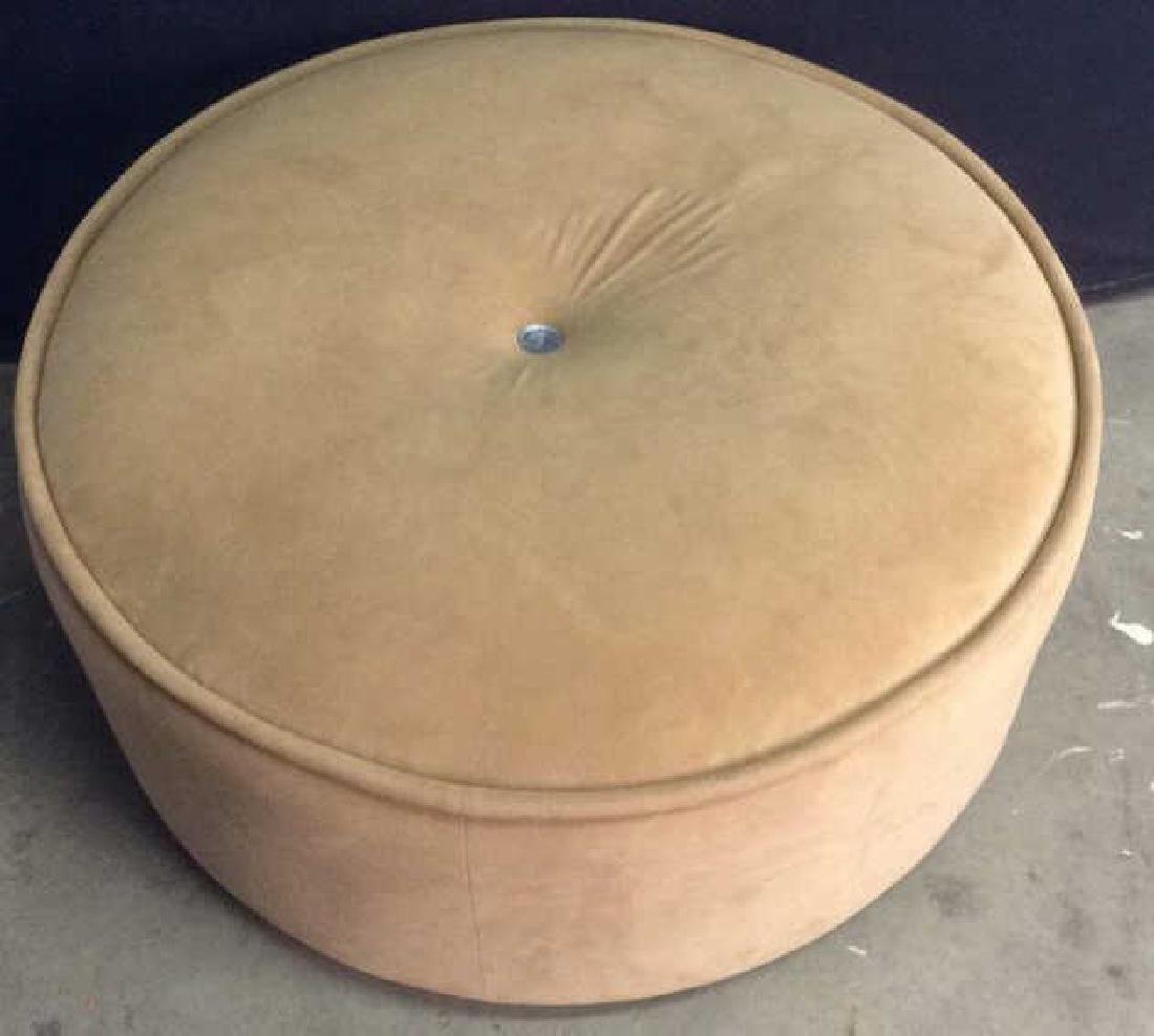 BLOOMINGDALES Round Beige Toned Ottoman - 10