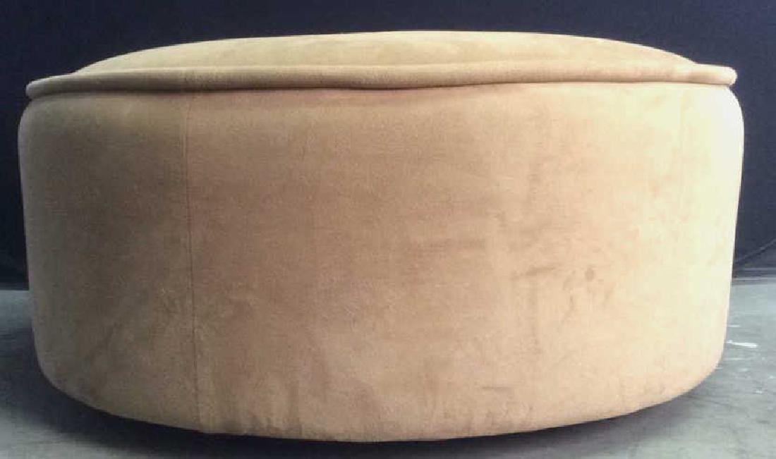 BLOOMINGDALES Round Beige Toned Ottoman - 2