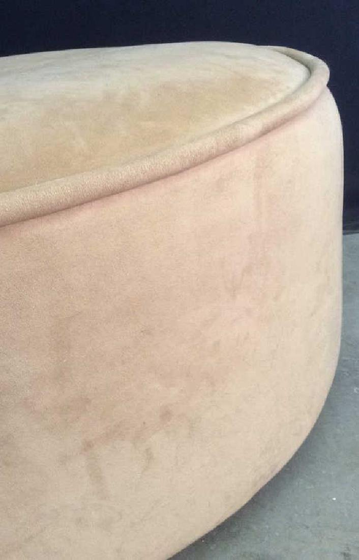 BLOOMINGDALES Round Beige Toned Ottoman - 6