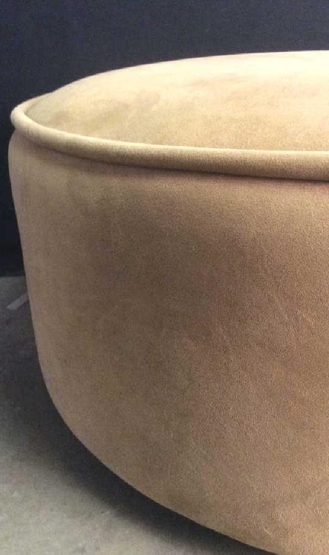 BLOOMINGDALES Round Beige Toned Ottoman - 7