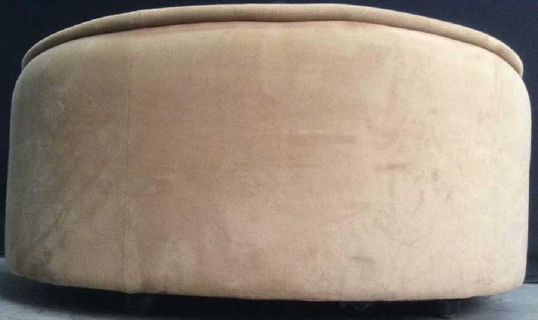 BLOOMINGDALES Round Beige Toned Ottoman - 9