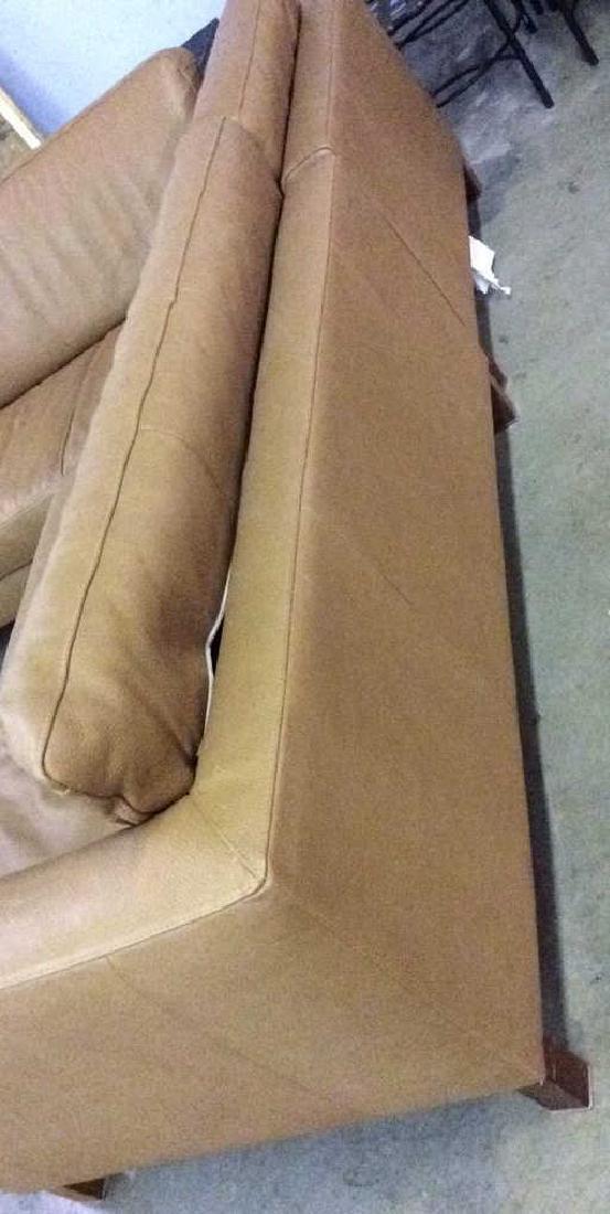 BLOOMINGDALES Tan Leather Sofa Sectional - 5