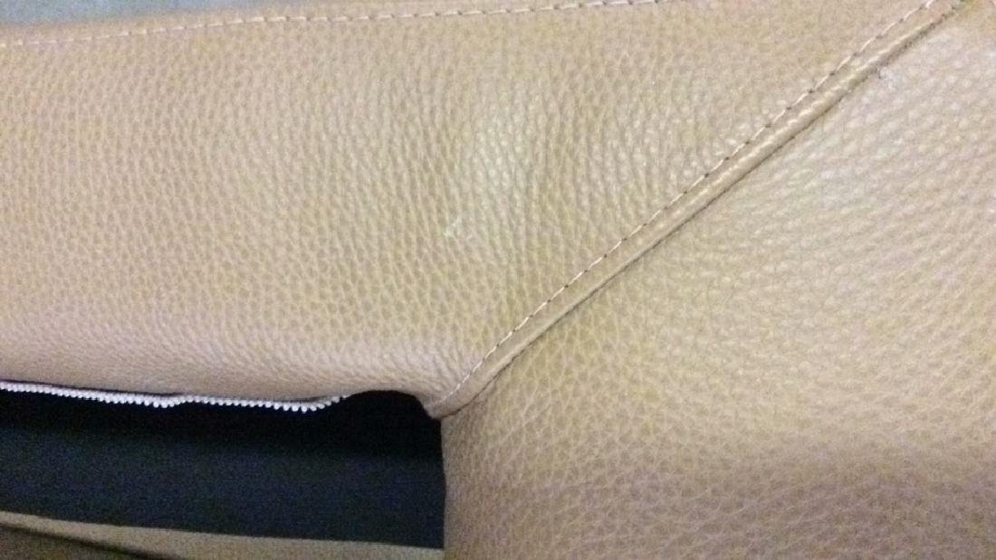 BLOOMINGDALES Tan Leather Sofa Sectional - 8