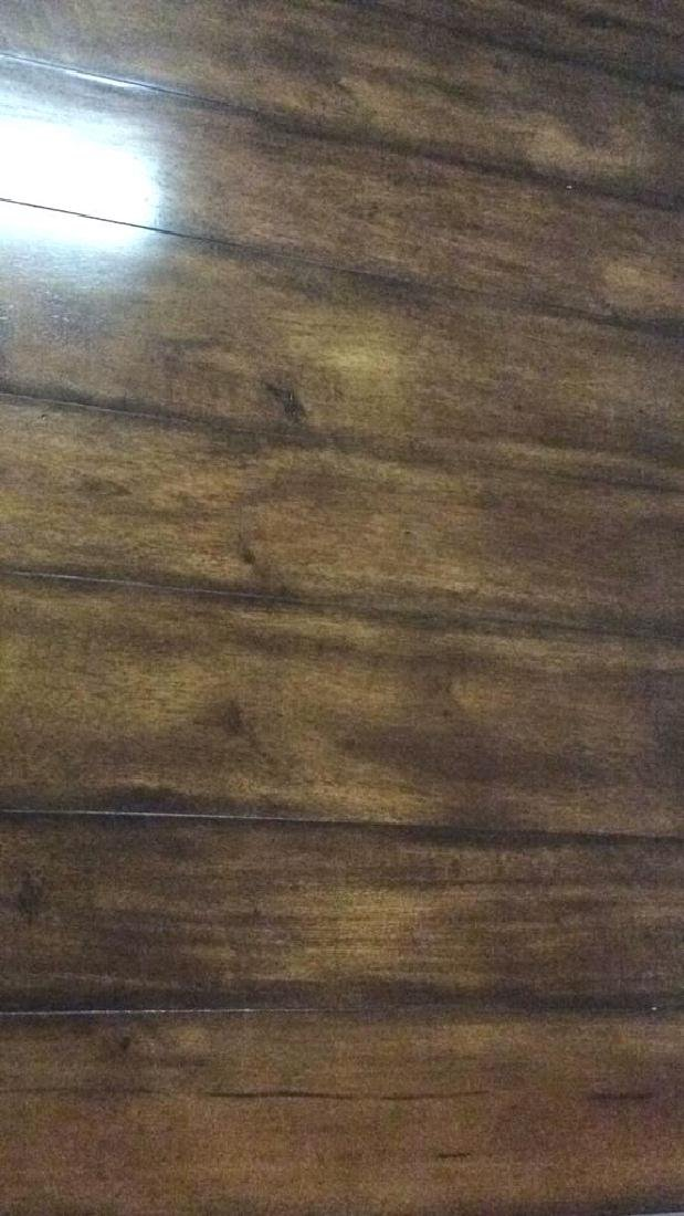 Planked Pine Wood 2 Tiered Coffee Table - 4