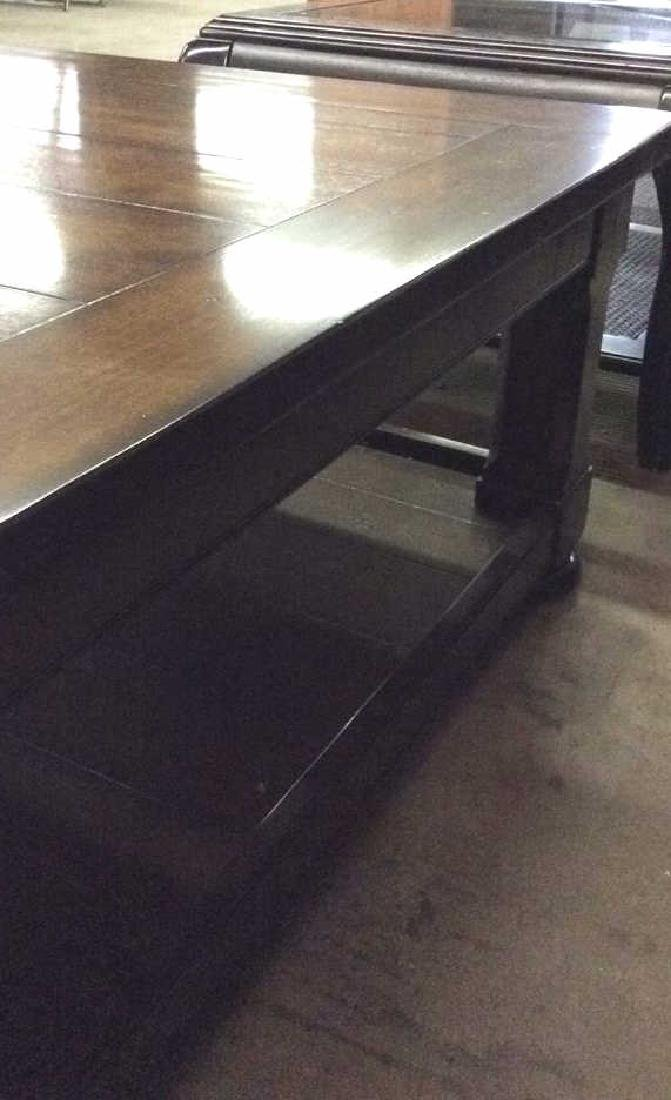Planked Pine Wood 2 Tiered Coffee Table - 5