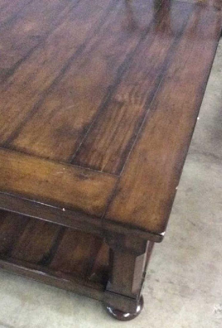 Planked Pine Wood 2 Tiered Coffee Table - 6