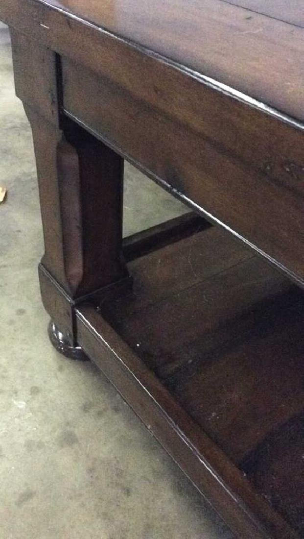Planked Pine Wood 2 Tiered Coffee Table - 7