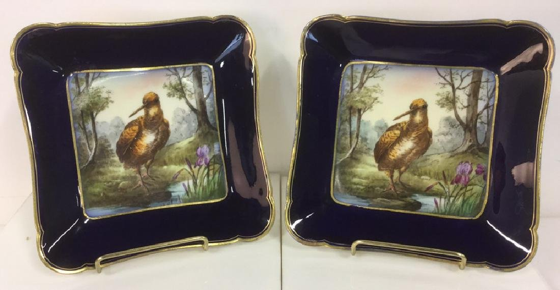 Lot 2 CH Field Haviland Limoges Bird Plates