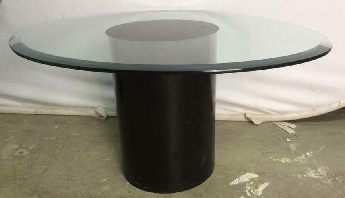 Set Mid Century Mod Glass Pedestal Table Cluster - 2