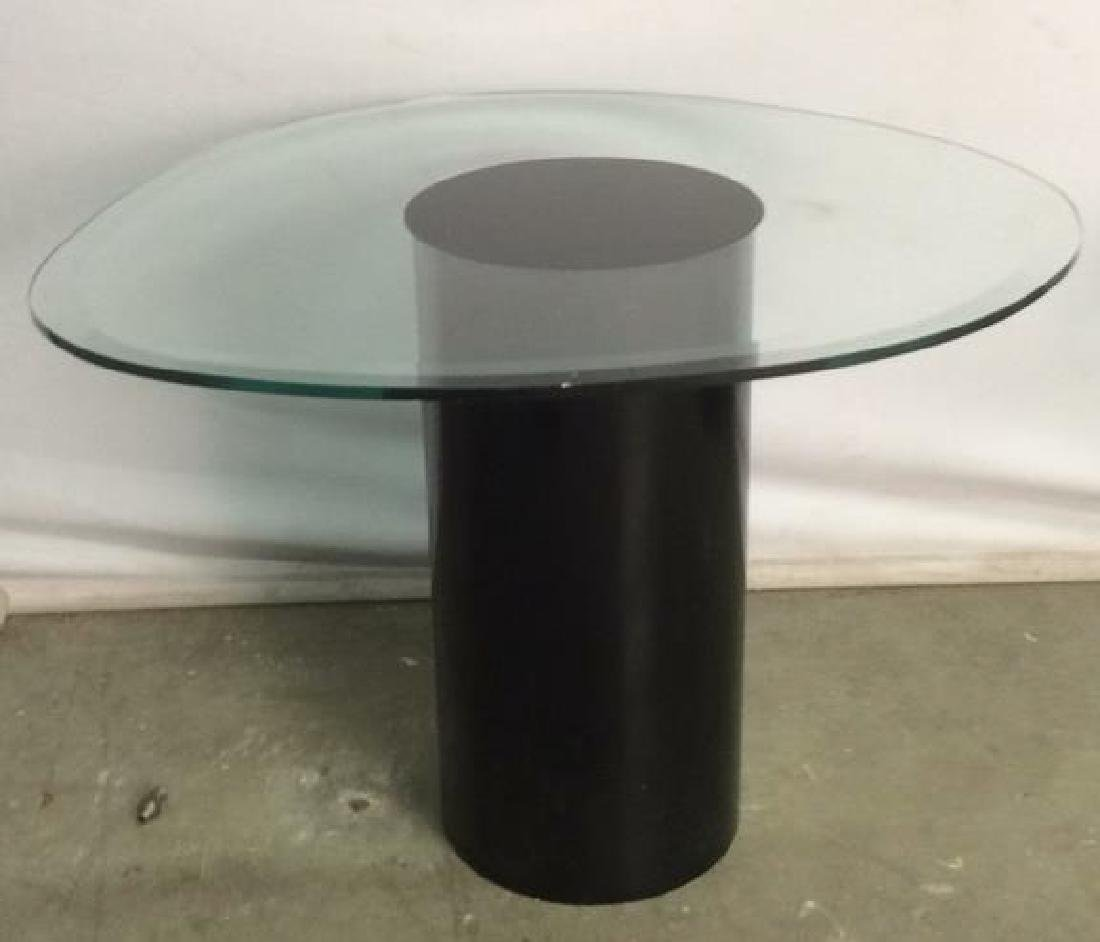 Set Mid Century Mod Glass Pedestal Table Cluster - 3