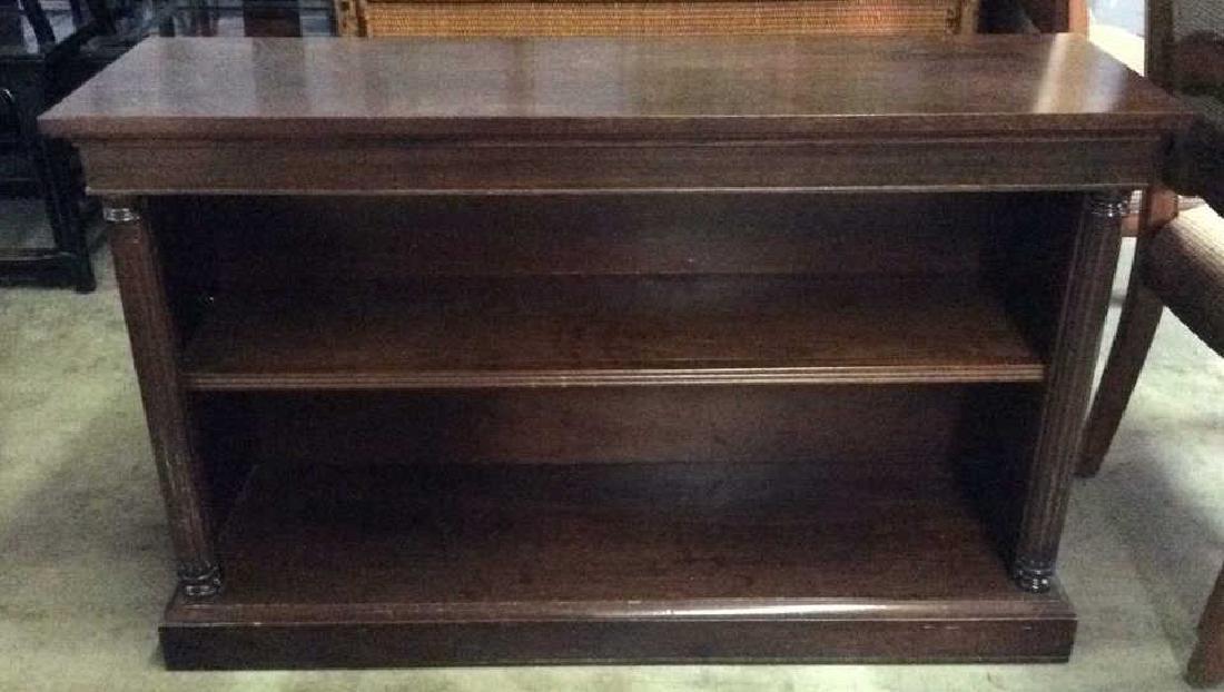 Wood Console Open Shelf Table